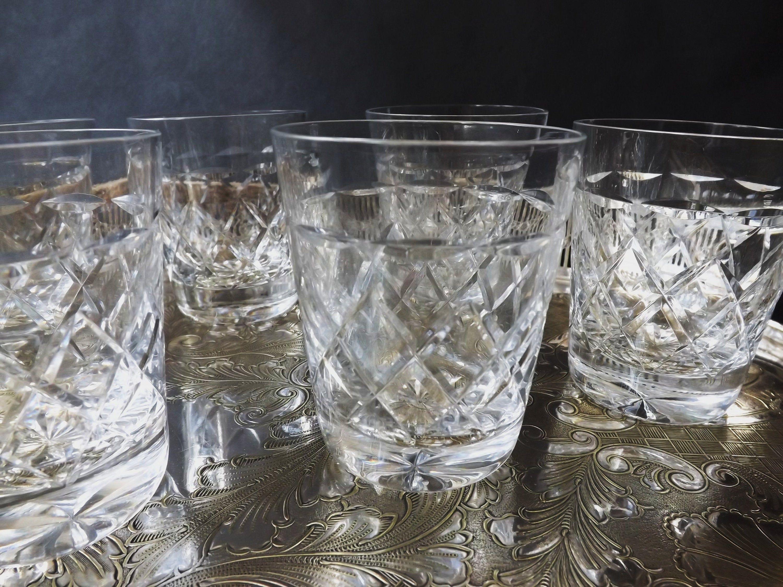 6 Vintage Crystal Whisky Glasses Set Vintage Small Whiskey Etsy Vintage Crystal Whisky Crystals
