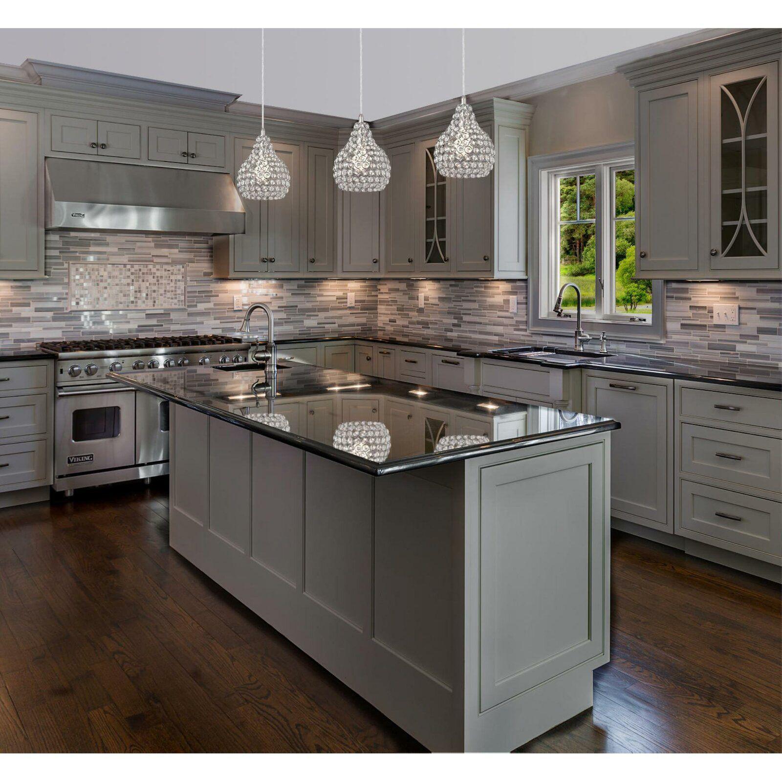 House Of Hampton Mcewen 1 Light Crystal Pendant Reviews Wayfair Kitchen Remodel Small Kitchen Design Home Decor Kitchen
