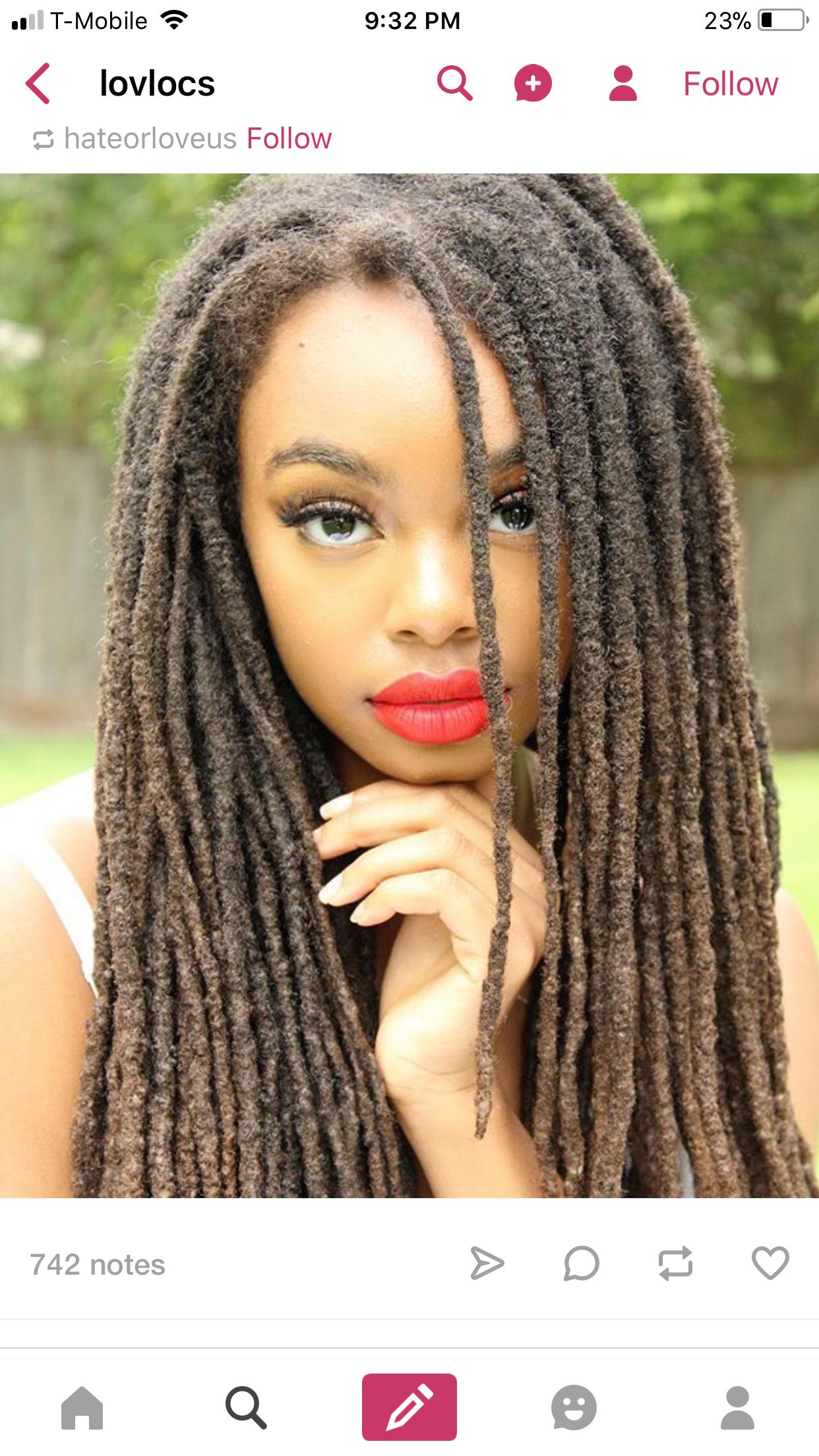 Long Locs | Natural Hair Styles, Beautiful Dreadlocks