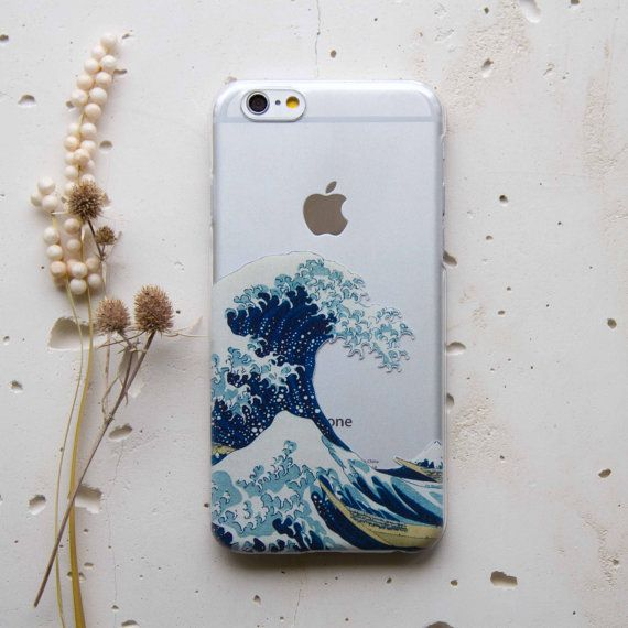 Wave Iphone Xr Xs Max 6s Case Clear Iphone Xs Case Iphone 8 Etsy Iphone 6s Case Clear Hipster Iphone Cases Phone Case Diy Paint
