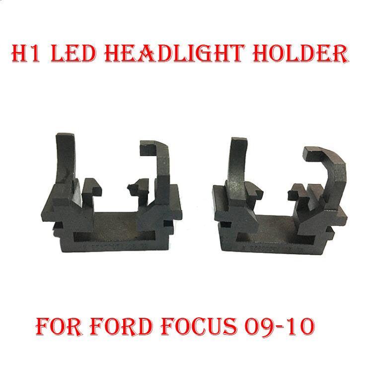 2pcs H1 Auto LED Headlight Bulb Base Adapter Lamp Sockets Retainer H1 Holder