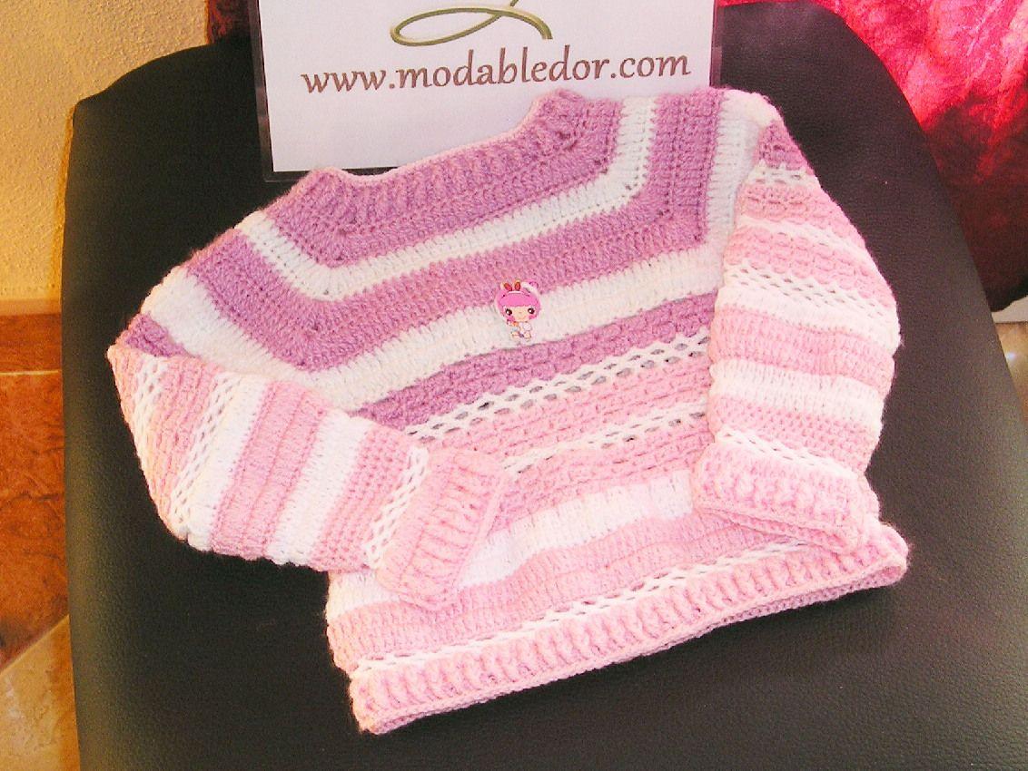 Jersey para niña de 3 años de edad en lana de algodón en 3 colores  malva 2223f9727d6