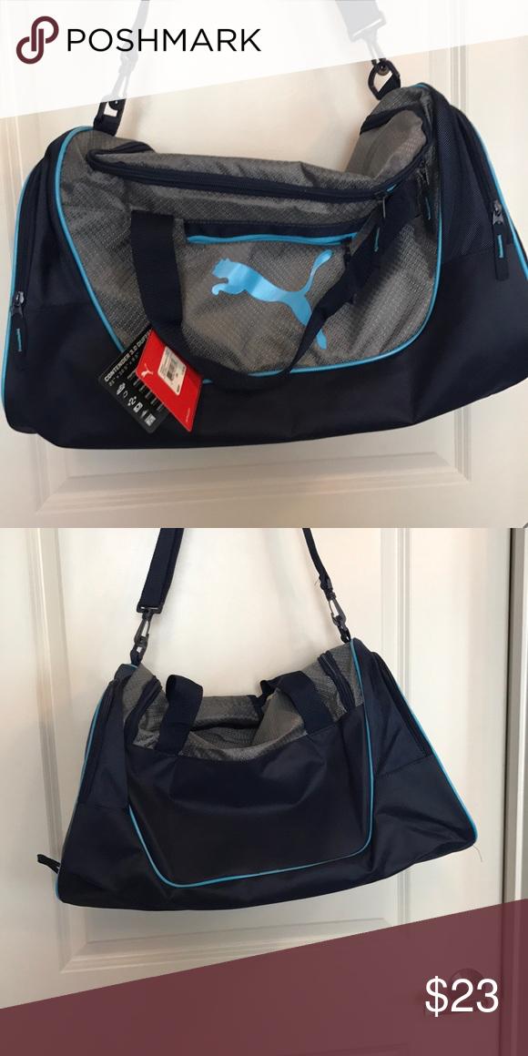 baaf7a3407c43d NEW Men's gym bag NWT Puma Gym Bag Blue Puma Bags Duffel Bags   My ...