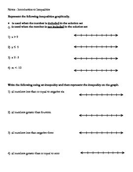 Notes Introduction To Inequalities Solving Equations Inequality Solving Inequalities