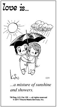 love is... a mixture of sunshine and showers.