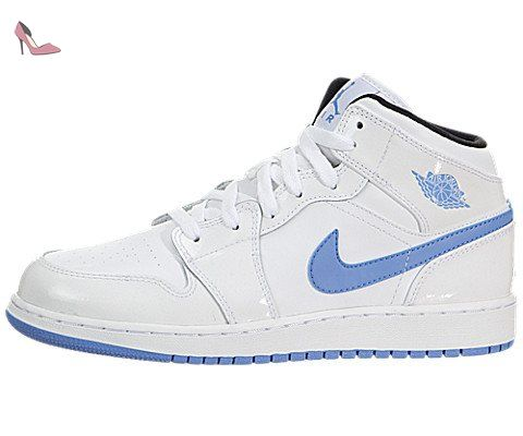 new arrival 593df d1d77 Nike Air Jordan 1 Mid White Youths Trainers 39 EU - Chaussures nike  ( Partner
