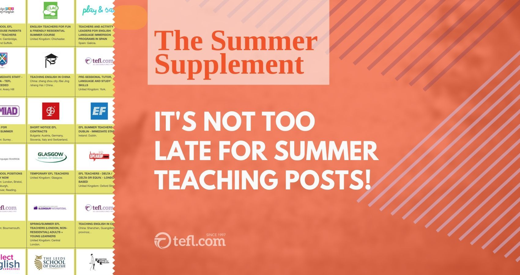 Last minute Summer Teaching! It may be July, but there are