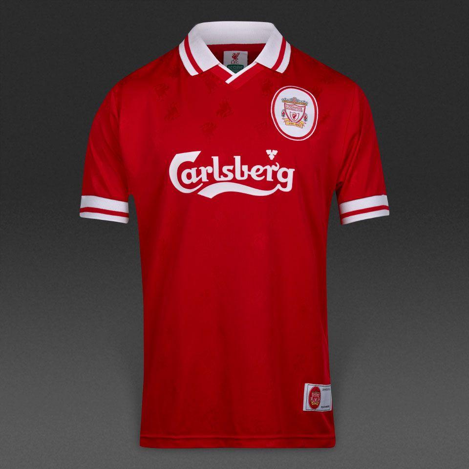 Score Draw Liverpool 1996 Shirt Mens Replica Shirts Retro Football Shirts Red White Pro Direct Soccer Retro Football Shirts 1996 Shirt Shirts