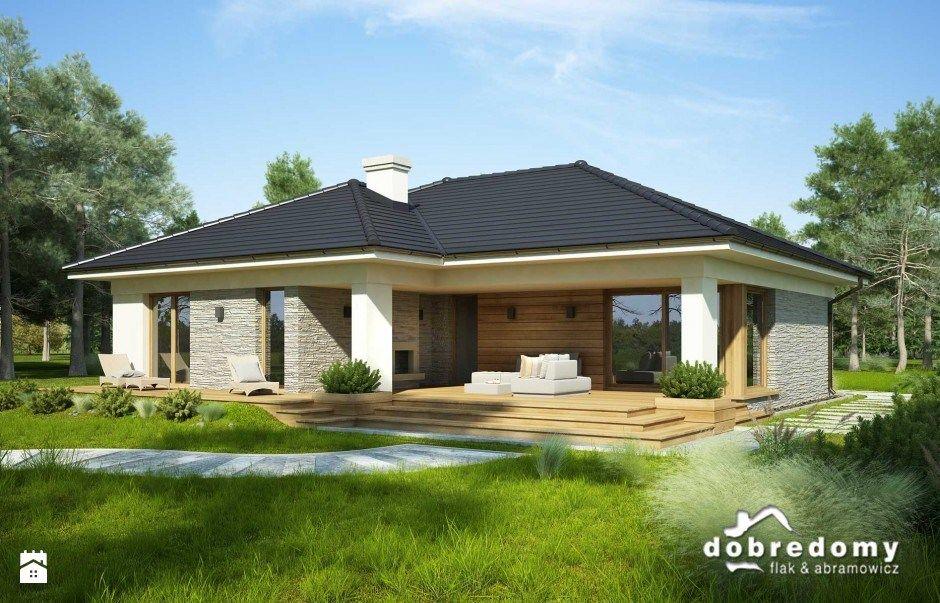 oceania 113 90 m2 domy styl nowoczesny pracownia projektowa dobre domy flak abramowicz. Black Bedroom Furniture Sets. Home Design Ideas