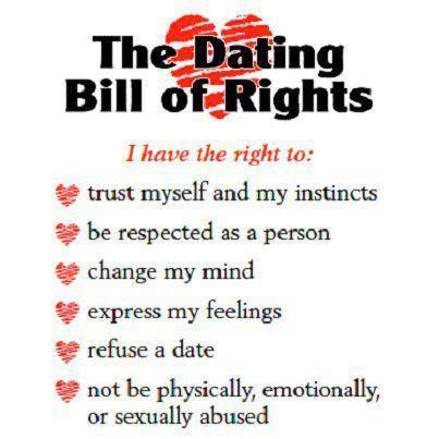 Teenage dating bill of rights