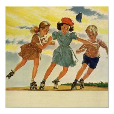 11. Vintage summer ~ As a child in Florida, I spent my summers literally skating the wheels off of my skates!