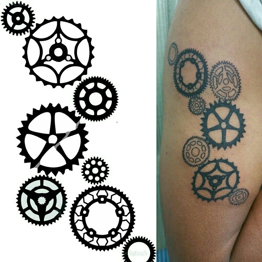 Tattoo For Mechanical Engineer Artistic Gear Design Mechanical