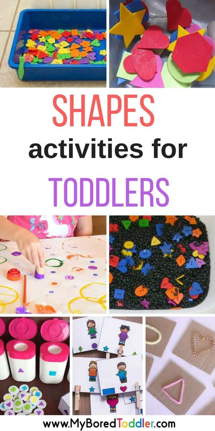 Shapes Activities for Toddlers Shape crafts, Activities
