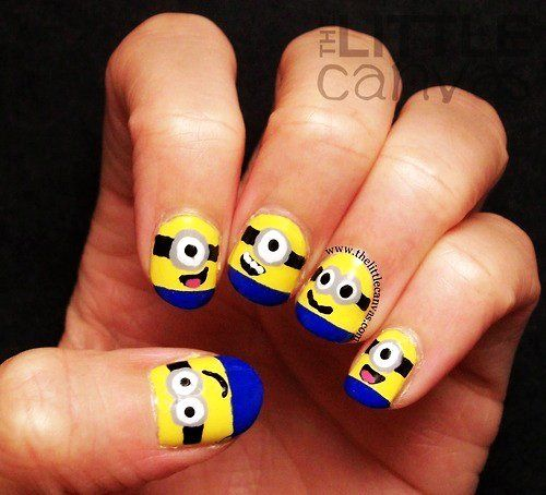 Cute Cartoon Nails Art