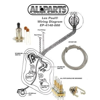 EP-4140-000 Wiring Kit for Gibson® Les Paul® (With images