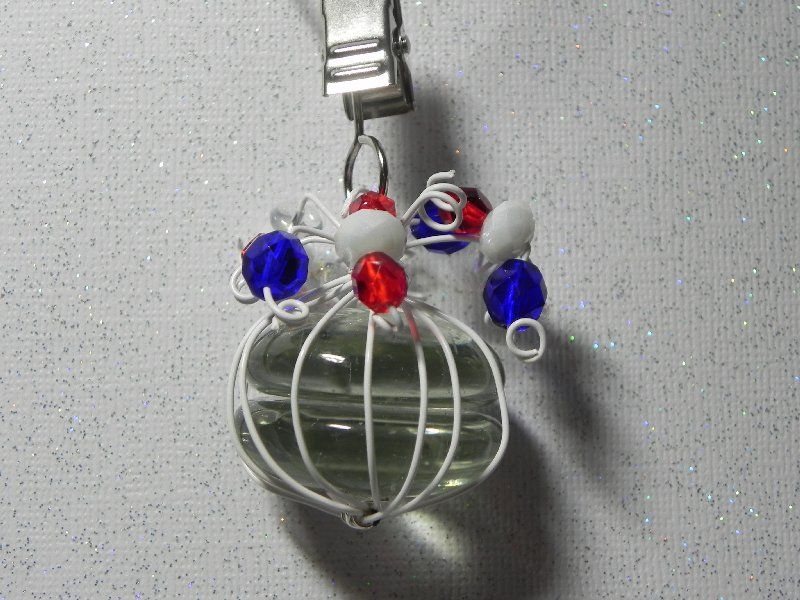 Tablecloth weights are pretty and handy to have to hold your picnic tablecloth in place. Think 4th of July  $15.00  https://www.etsy.com/listing/101088147/tablecloth-weights-clear-glass-beads