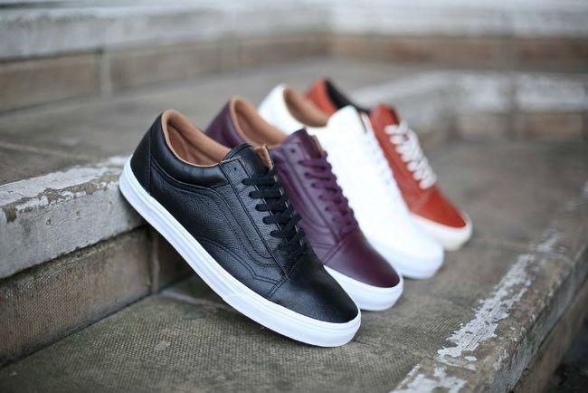 be368510d3d8 Vans Old Skool Premium Leather Pack
