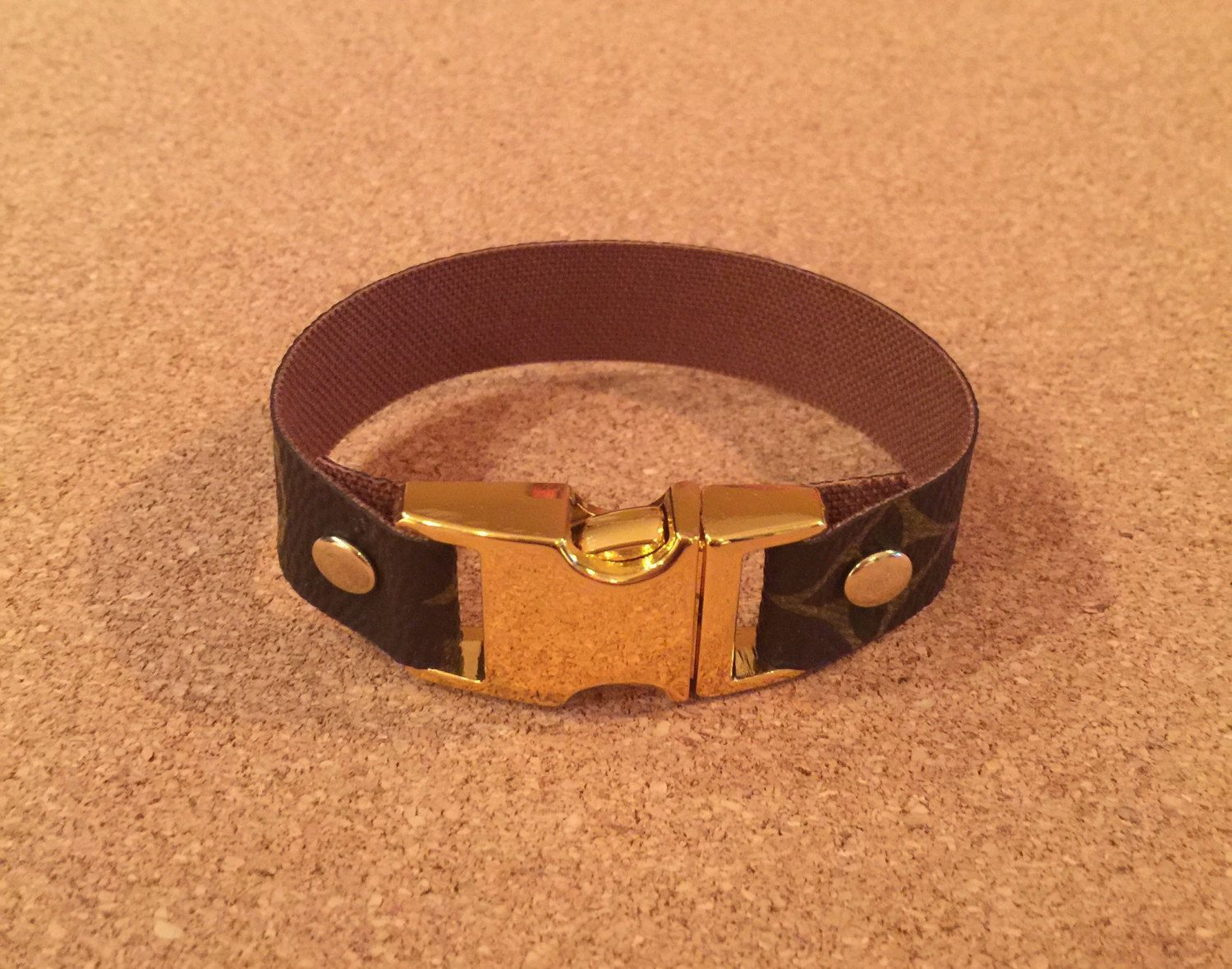 Unisex bracelet upcylced from louis vuitton canvas bracelets