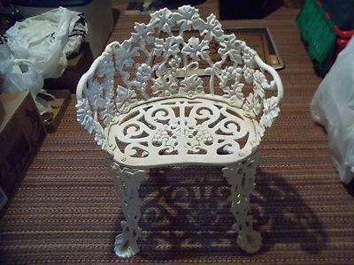 antique wrought cast iron white garden chair bench grape leaf design ebay garden