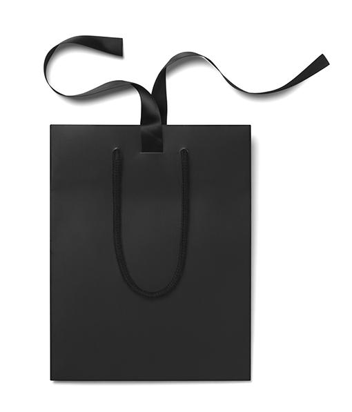 Black Matt Laminated Ribbon Gift Bags From Paper Bag Co Paper Bag Design Bags Custom Paper Bags