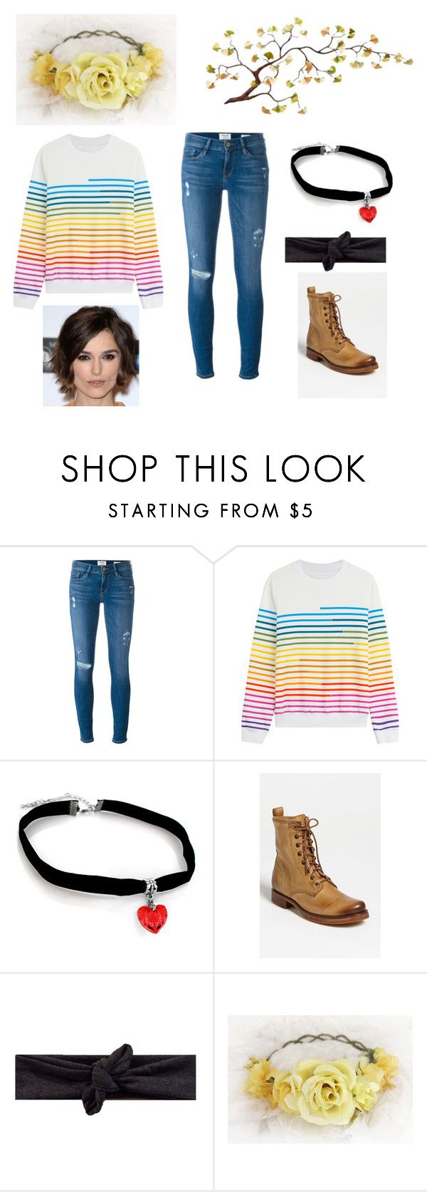 """""""Darcy in the Undertale universe"""" by potato-cloud on Polyvore featuring Frame Denim, Mary Katrantzou, Frye, OC and undertale"""