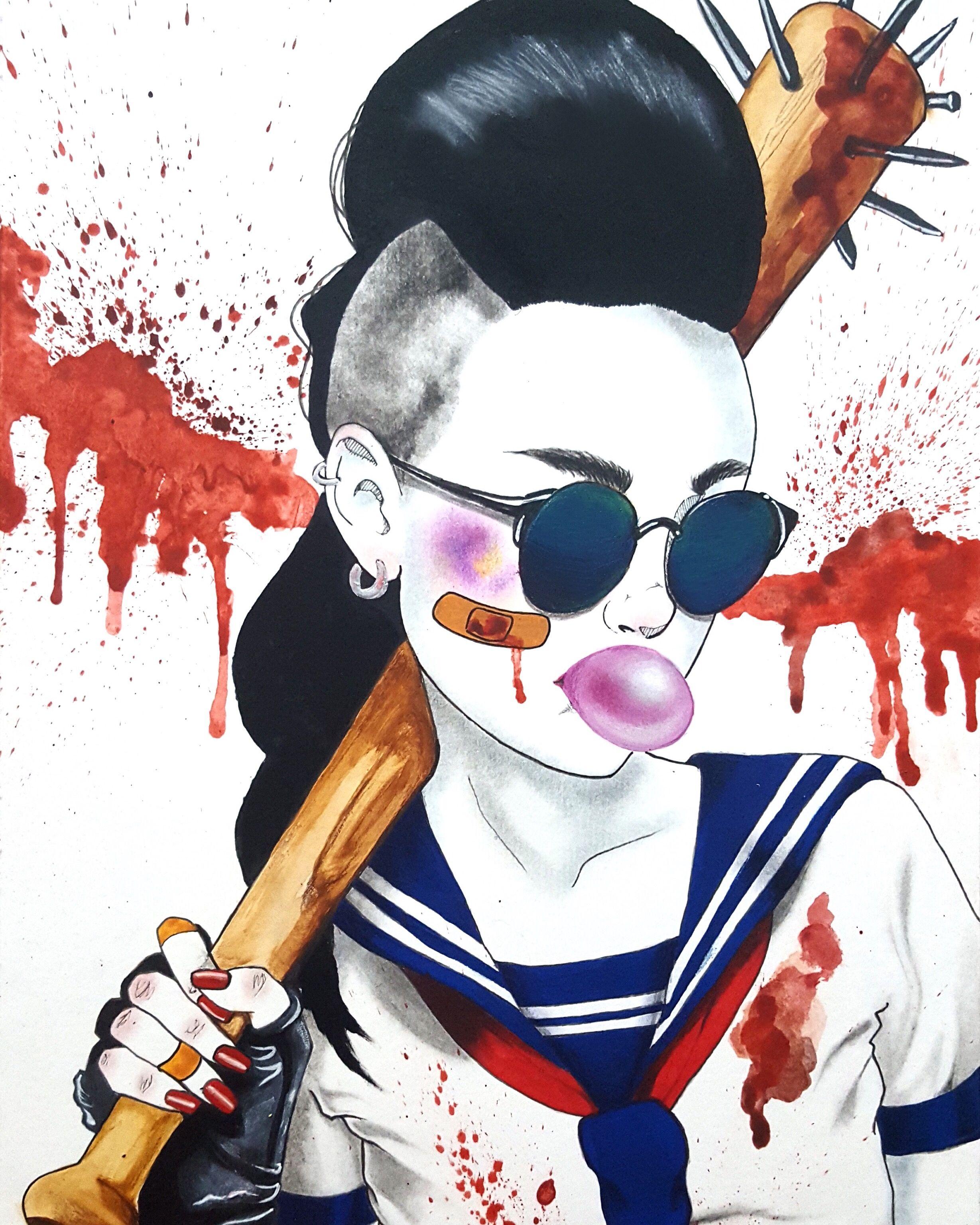 foto de Harumi Hironaka (con imágenes) | Dibujos, Dibujos de terror ...