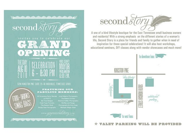 Second Story Invite - GRAND OPENING! Grand opening - Business Event Invitation