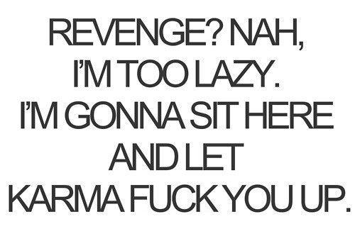 funny revenge karma quote