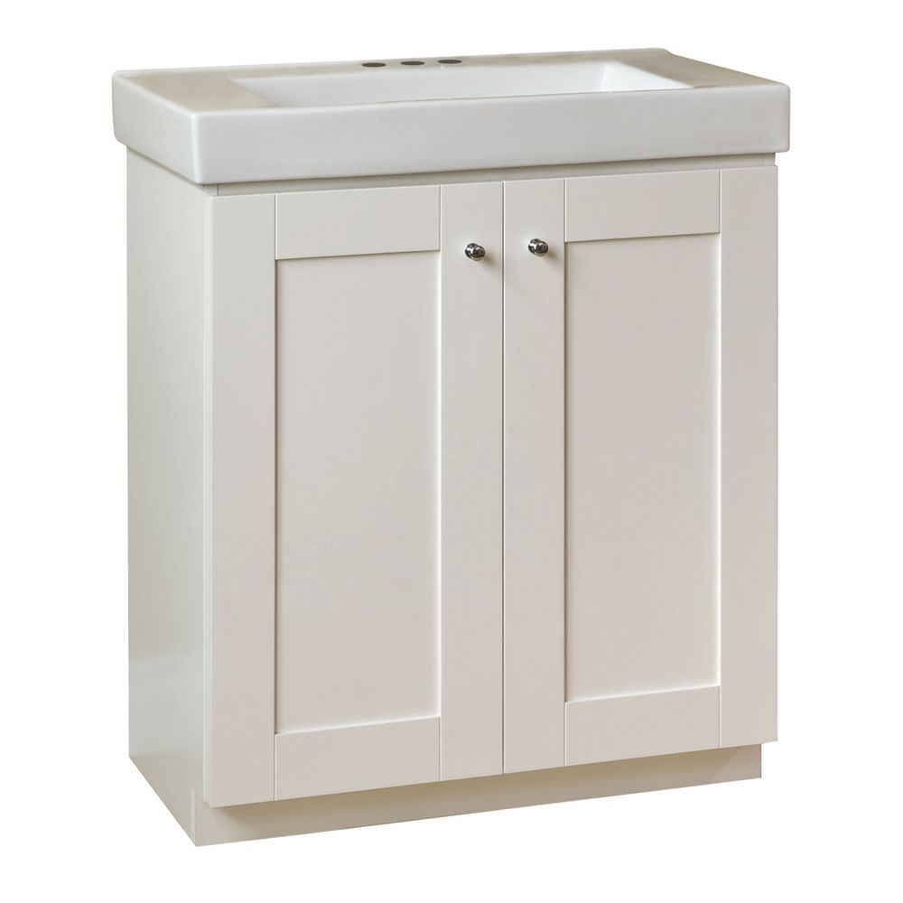 """30 Bathroom Vanity With Top Canada 30"""" adrian shaker-style vanity base with top matte white 