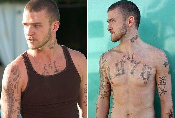 Alpha Dog Celebrity Tattoos Justin Timberlake Alpha Dog