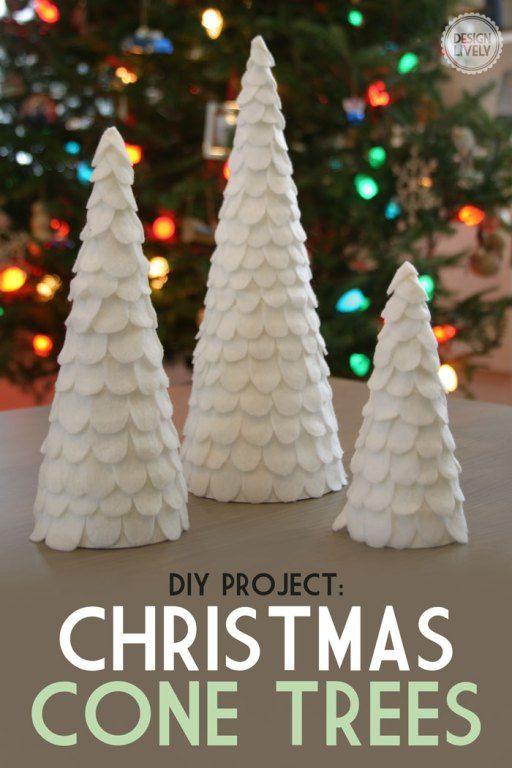 Easy DIY Cone Christmas Tree - DesignLively Christmas Ideas