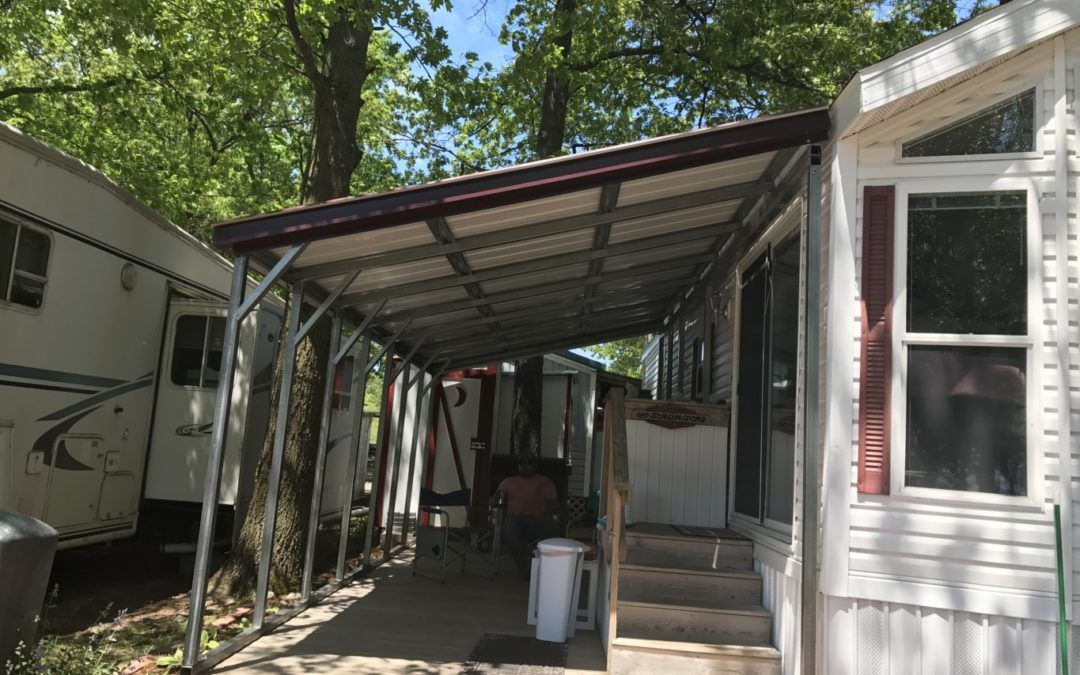 Free Standing Metal LeanTo Midwest Steel Carports, Inc