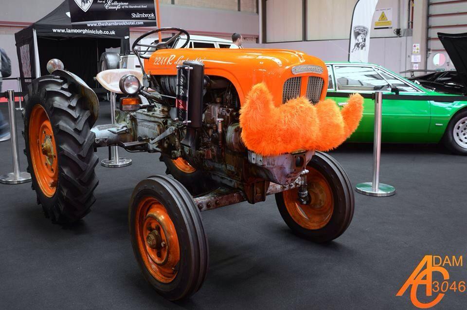 2018 lamborghini tractor. simple 2018 the 1960 lamborghini tractor got the movember treatment at nec classic  motor show inside 2018 lamborghini tractor