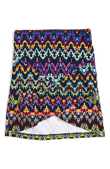 Flowers by Zoe 'Aztec' Print Skirt (Toddler Girls & Little Girls)