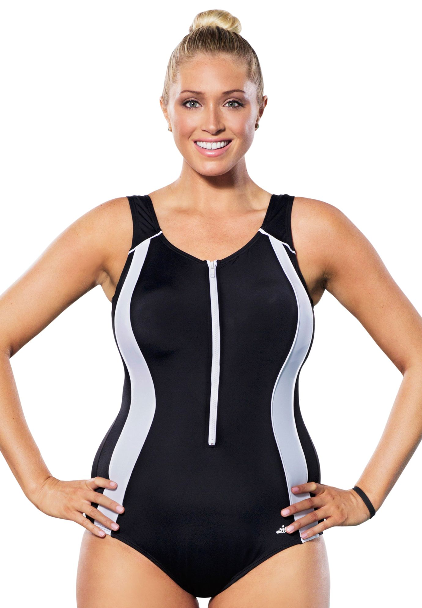 0149a2466b Xtra Life® Lycra® Zip-Front Swimsuit