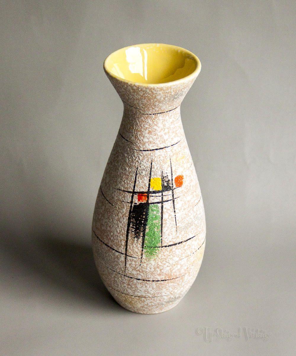 Italian Hand Painted Art Pottery Majolica Obelisk