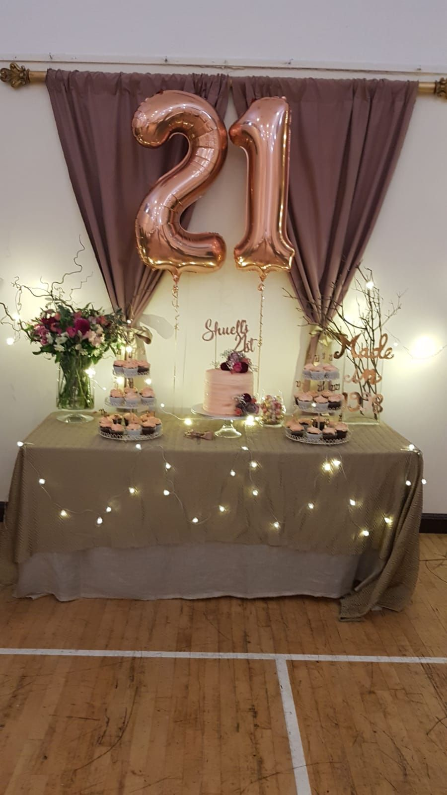 21st Birthday Rose Gold Table Decor 21st Birthday Decorations Gold Theme Birthday Party Rose Gold Party Theme