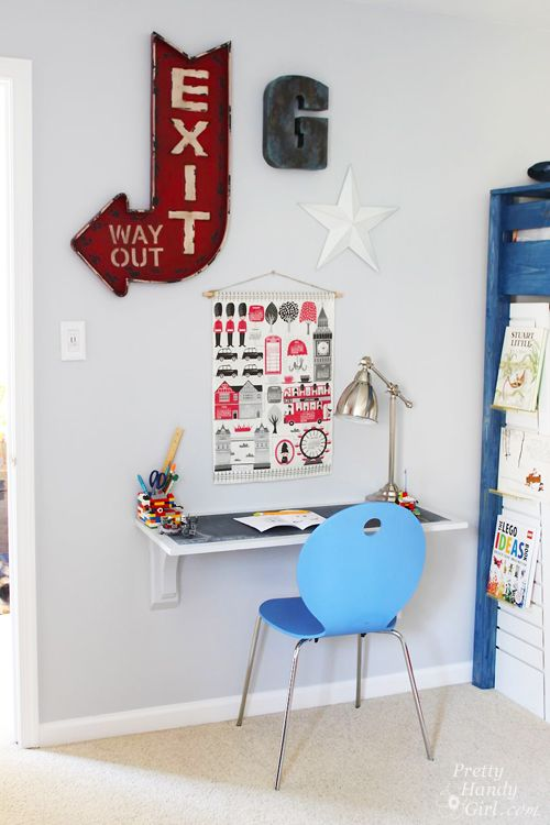 Wall Mounted Desk Tutorial Time To Decorate Pinterest