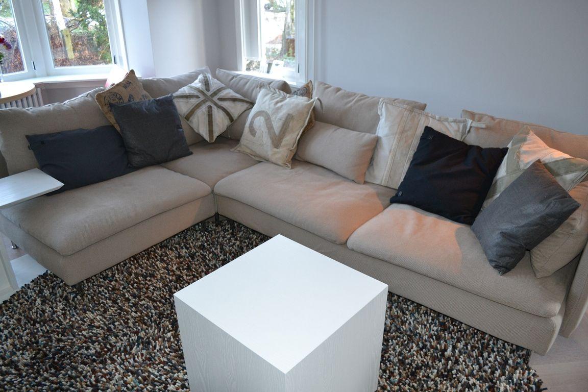 ikea bank soderhamn kleed brink campman zithoek losse kussens schaal 1 1. Black Bedroom Furniture Sets. Home Design Ideas