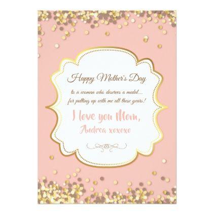 Confetti Mother\u0027s Day Greeting Card - invitations custom unique diy - confeti