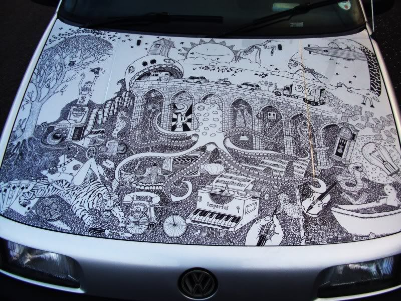 Why Get a Paint Job When You Can Use Sharpies Car paint
