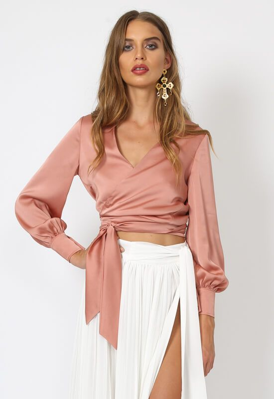 c5829df931 Taromina Wrap Top – BLUSH – Lioness Fashion