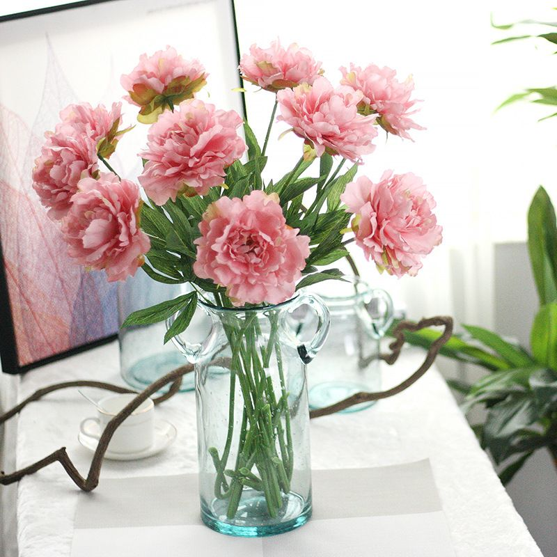 3pcslot artificial peony bouquet for home decoration large 3pcslot artificial peony bouquet for home decoration large artificial peony silk flowers us 1104 mightylinksfo