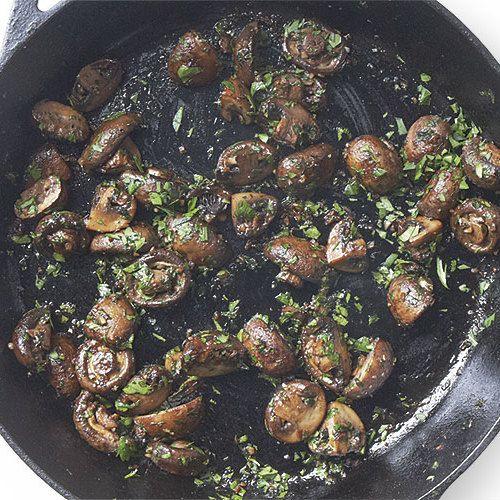 Pan-Roasted Garlic-Butter Mushrooms