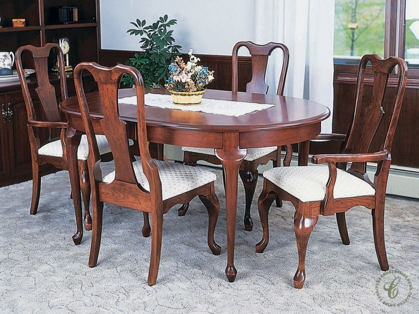 Countryside Amish Furniture, Queen Anne Style Dining Room Table