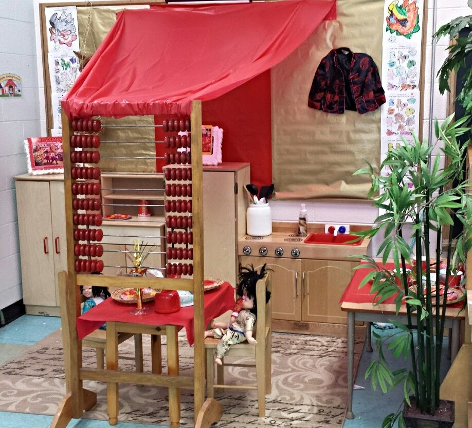 Chinese New Year dramatic play center This was an awesome idea