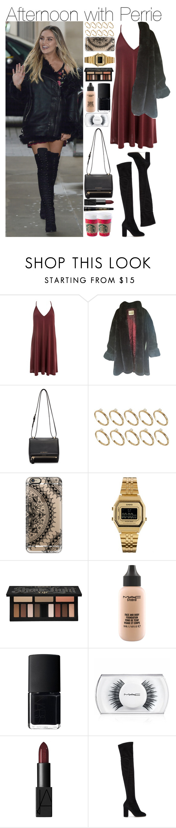 """""""Afternoon with Perrie"""" by mrspayne-1d ❤ liked on Polyvore featuring Sans Souci, Givenchy, ASOS, Casetify, Casio, Kat Von D, MAC Cosmetics, NARS Cosmetics, Dolce&Gabbana and Guerlain"""