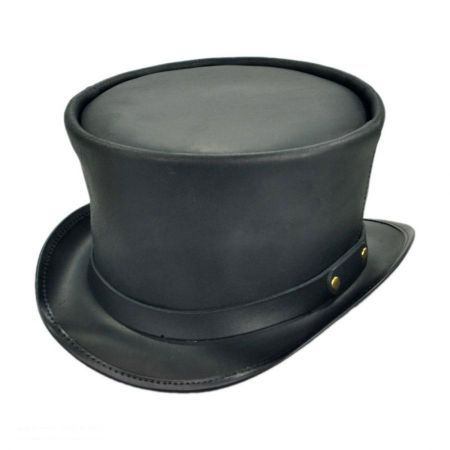 3d7f0b64fa1a0 Coachman Black Leather Top Hat in 2018