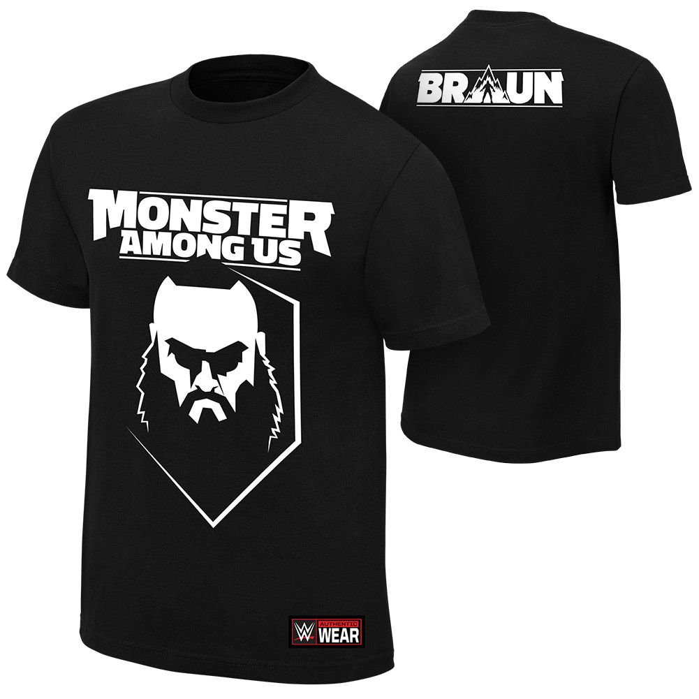 braun strowman monster among us authentic t shirt. Black Bedroom Furniture Sets. Home Design Ideas