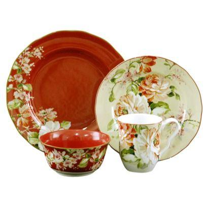 Room  sc 1 st  Pinterest & Target Home Emelia 16-piece dinnerware set. SO PRETTY! | Dishes ...